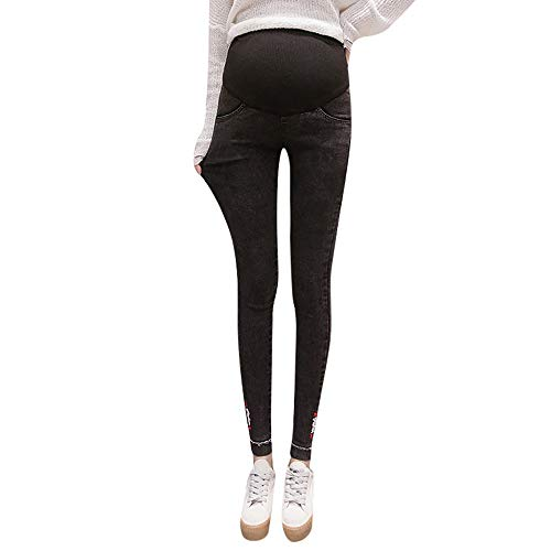 Damen Umstandsmode Elastische Jeanshose Skinny Umstandsjeans Schwangere Leggings Straight Mutterschaft Umstandshose Casual Umstandsshorts Hohe Taille Mode Jeans Elegant Yoga Umstandsleggings Slim Leg Maternity Legging