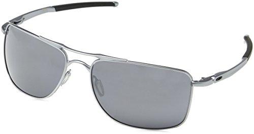 Oakley Herren Gauge 8 412407 62 Sonnenbrille, Schwarz (Matte Lead/Blackiridium),