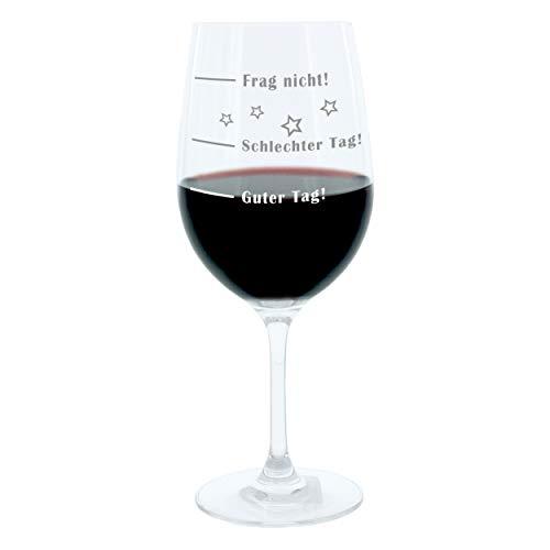 GeschenkIdeen.Haus - Stimmungs Weinglas XL - Geschenk mit lustiger Gravur