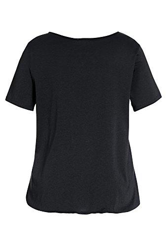 PEPPERMINT Plus Size - Basic-Shirt, Damen Damen-Shirt,T-Shirt,Basic-Shirt,Große Größen, Schwarz