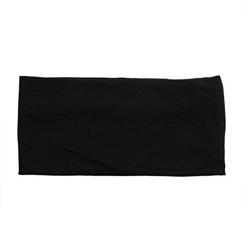 Butterme Mode Baumwolle Stirnband Damen Frauen Sport Yoga Haarband Kopfband Haarband (Schwarz) -