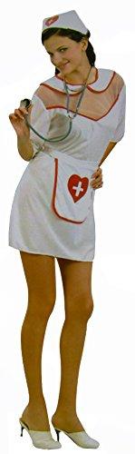 Kranken-Schwester Kostüm für Damen Kreuz Hospital Sexy Oberteil Mütze Hebamme Ärztin Nurse Verkleidung Kostüm Fasching Halloween Karneval (Krank Kostüme)