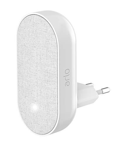 Arlo AC1001-100PES Smart Chime Carillon qui vous Donne l'Alerte pour vos Sytèmes Arlo, Arlo Pro 2, Arlo Ultra, Arlo Doorbell et Arlo Light, Blanc
