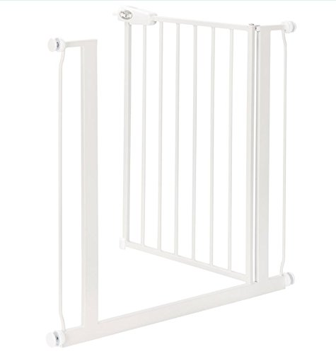 Impag Türschutzgitter 62 – 148 cm zum Klemmen Ohne Bohren Tom Weiß + 1 + 2 - 2