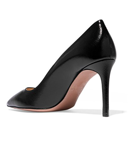 EDEFS Chaussures à Talons-avant du Pieds Couvert Femme Escarpin Shoes Noir