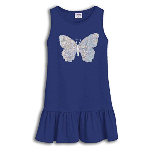 VIKITA Mädchen Sommer Ärmellos Wende-Pailletten Baumwolle Kleid EINWEG SH0380 7T