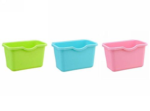 Creative Lagerkästen, Multifuctional Kunststoff Korb können, hängende Mülleimer, Deskside Recycling Abfalleimer, Garbage Schalen können Container, Kompostierung Bin, Trash Junk Box, Set von 3, plastik, Assorted Color, 8.4L x 5.4H x 5W