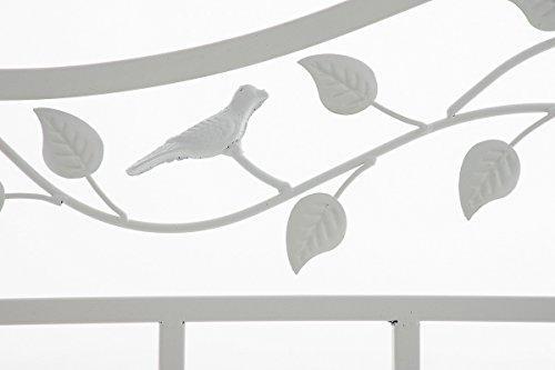 CLP Gartenbank ABIONA im Landhausstil, Eisen lackiert (Metall) ca 110 x 50 cm Weiß - 5