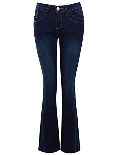 Low Rise Flare Leg Jeans (SS7 Slim Fit Bootcut Jeans für Damen mit Low Rise)
