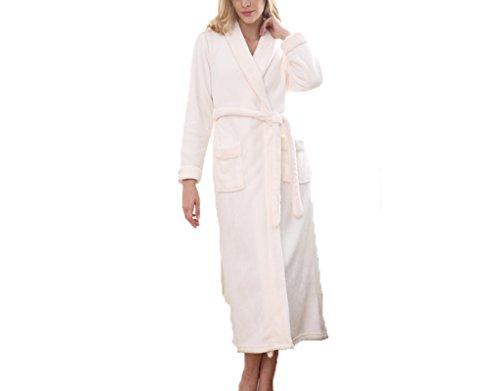Startseite Mens Freizeit Baumwolle Toweling Erwachsene Schal Kragen Bademantel Bademantel Bademantel Pyjamas Nachthemd F