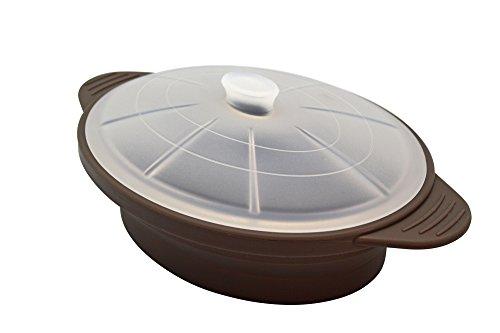 Olla Microondas de Silicona, Color marrón (taupe)