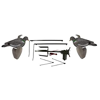 Riverside Outdoor Pigeon Magnet with 2 X Air Pro Pigeon Decoys Rotary Machine Decoying Shooting