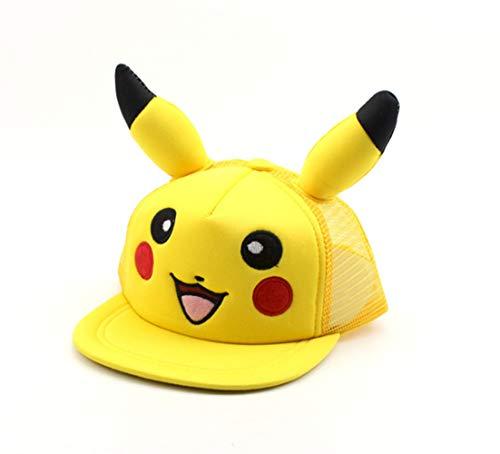 Imagen de pokémon  de béisbol de dibujos animados pikachu hip hop sombrero para el sol 3 8 años de edad tapa de malla de los niños se puede ajustar