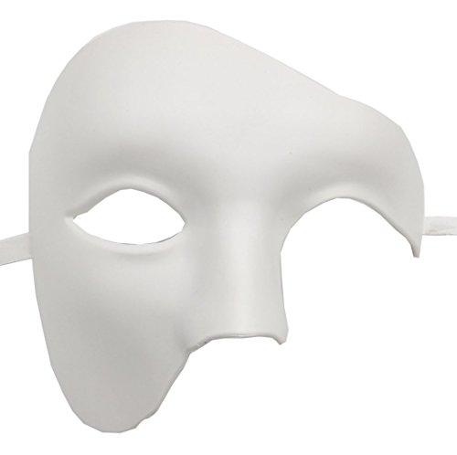 Coolwife Maskerade Maske Vintage Phantom der Oper ein Augen Half Face Kostüm (Weiß)