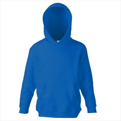 Fruit of the Loom - Classic Kinder Kapuzen-Sweatshirt 'Kids Hooded Sweat' 140,Royal