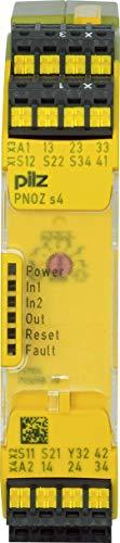 Pilz Not-Aus-Schaltgerät PNOZ s4 C #751134 48-240ACDC 3n/o 1n/c Gerät zur Überwachung von sicherheitsgerichteten Stromkreisen 4046548025477