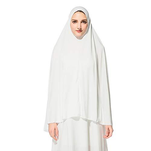 Gyratedream Hijab Schal Lange Kopftuch Frauen Muslimische Feste Schals Chadors Arabien Islamische Gebet Kleid Muslimische Kleidung Hijab Kleider Frauen Muslim Bat's-Flügelhülsen Kleid Hijab