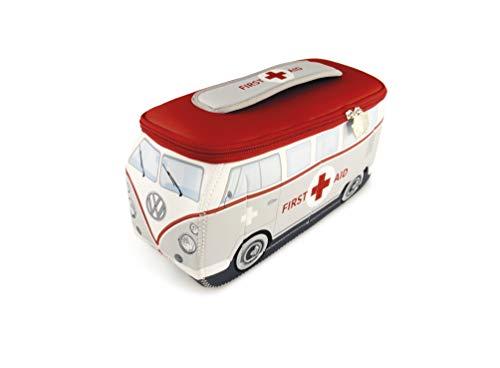 BRISA VW Collection VW T1 Bus 3D Neopren Universaltasche - First Aid (Kreuz Notfall-kit-rotes)
