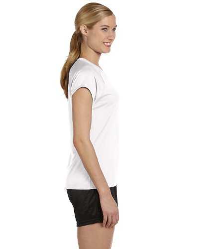 Champion Damen V-Neck Tee Essential Double Dry Weiß