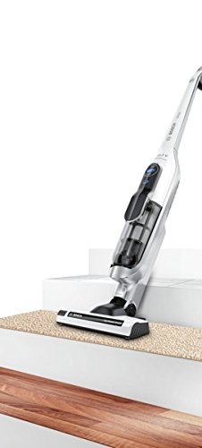 Bosch BCH625KTGB Athlet Upright Cordless Vacuum Cleaner, 0.9 L – White