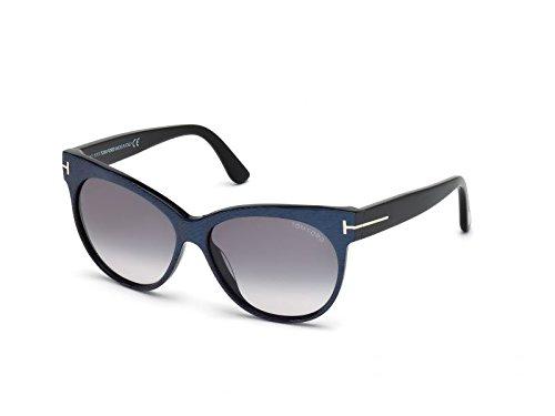 Tom Ford Für Frau 0330 Striped Violet / Gradient Smoke Kunststoffgestell Sonnenbrillen