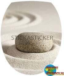 Sticker Autocollant Abattant WC Paysage 35x42cm réf 308