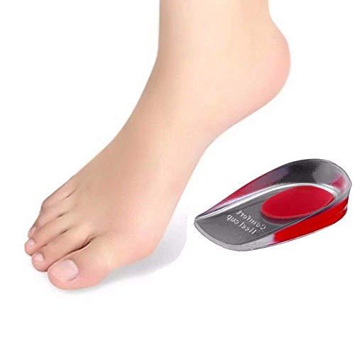 Gel Einlegesohlen Einlagen Fersensporn Fersenkissen Diabetiker Fersenpolster Orthopädisch Schuheinlage Fußbett (Rot, 36-40) (Blau 41-46) ... (Rot, 36-40) -