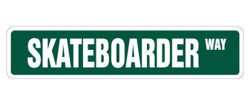 Zitat Aluminium Schild Skateboarder Street Sign Skateboard Wheels Deck Schilder Skateboarding Liebhaber Sport Metall Geschenk Schild Wandschild Dekoration (Warnung Skateboard Decks)