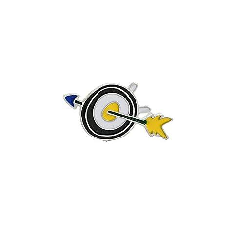 Aooaz Damen Mädchen Kinder Cartoon Emaille Brosche Anstecker Pins Pfeile Gelb Schwarz Weiß