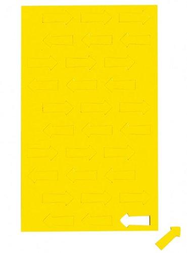 Gelb Magnetsymbole Pfeil, Magnet für Planungstafel, Whiteboard, Gelb