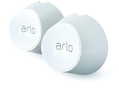 Arlo VMA5000, Zubehör, Magnetische Wandhalterungen (offiziell, 2er Set, Innen/Außen, nur mit Arlo Ultra und Pro3 kompatibel) weiß