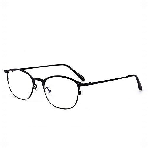WULE-RYP Polarisierte Sonnenbrille mit UV-Schutz Männer Retro Anti-Blau Brille Half Frame Brillengestell. Superleichtes Rahmen-Fischen, das Golf fährt (Farbe : Schwarz)