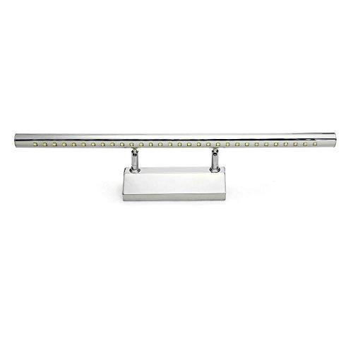 CroLED Lámpara de pared baño - Lámpara Espejo para Baño 7W con 30LEDs 490LM Iluminación Luz Blanca