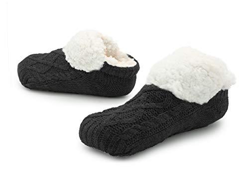Frau Hausschuhe Pantoffeln Slipper Damen Slippers Women Filzschuhe Ballerina (37-40, schwarz)