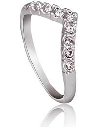 FASHION PLAZA Damen Ring mit Zirkonia Element R100