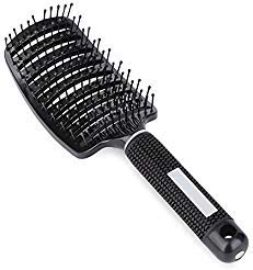 Iebeauty®Soft Complex Vent Curved Hair Brush & Comb Kit For Hair Fast Dry Vented For Faster Drying. This Mixed Bristle Brush, Repairs Damaged Hair By Moving Hair Oils To the Ends of the Hair (red) by Iebeauty