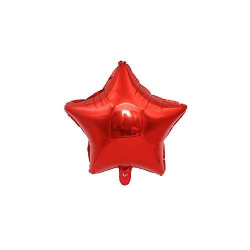 1pc 18inch-Stern-Herz aufblasbare Helium-Ballon-Geburtstags-Party-Dekorationen Kinder-Folien-Ballone Hochzeit Weihnachten Supplies Geschenke, Rot, 18inch-10 (Maroon Und Gold Ballons)