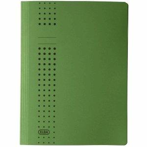 25 x Elba Schnellhefter chic A4 Karton grün