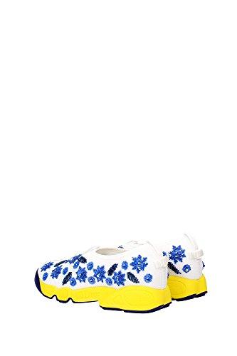 KCK107BRWS010 Christian Dior Sneakers Femme Tissu Blanc Blanc