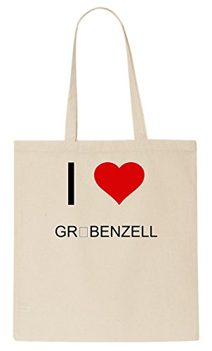 I Love GRÖBENZELL Tote Bag