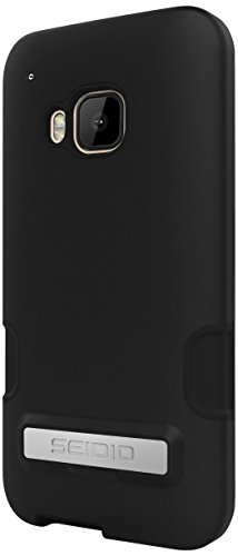 Seidio Dilex Pro Case with metal Kickstand for HTC One M9 - Retail Packaging - Black