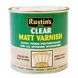 Rustins Polyurethan MATT 250ml Klar