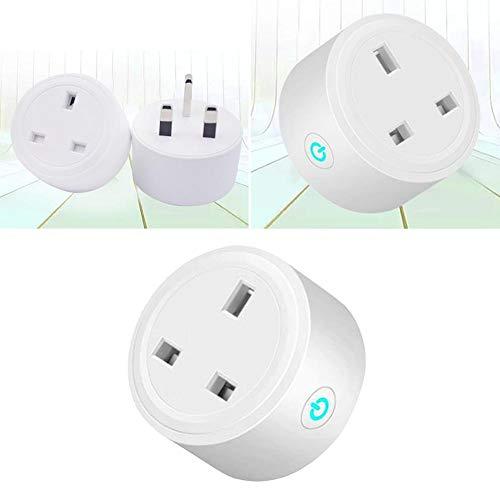 Dream-cool Smart Plug Telecomando Spina UK Prese Mini WiFi Presa di Alimentazione per Amazon Alexa/Google Home/Ifttt British Standard Mobile Phone Timer con Interruttore