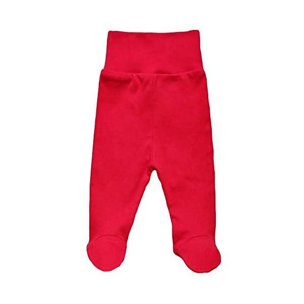 MEA BABY Pantalones unisex para bebé con pie de 100 % algodón en paquete de 5 unidades. Pelele con pie. 3