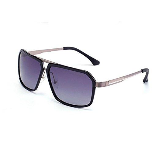 GHCX Square Fashion Polarisierte Sonnenbrille Sonnenbrillen Persönliche Brillen Metall Full-Frame-Objektiv Fashion Hipster-Brille Outdoor Sports Polarisierte Driving Mirror,B-OneSize