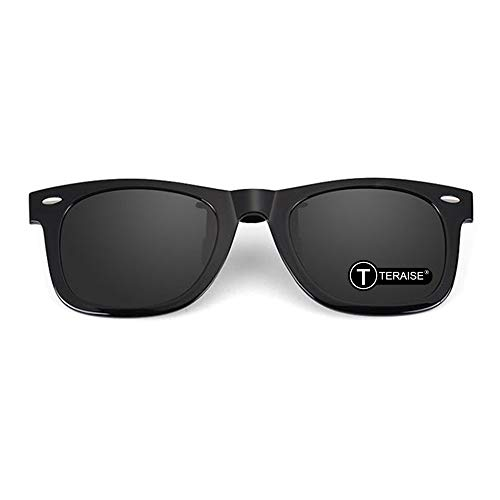 Teraise Polarized Clip-On Driving Sunglasses with Flip Up Function-Suitable for Driving Fishing Outdoor Sport ...