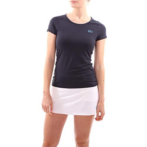 Sportkind Mädchen & Damen Tennis, Fitness, Sport T-Shirt, Navy blau, Gr. 128