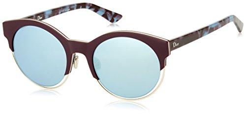 Dior Damen DIORSIDERAL1 3J XV4 Sonnenbrille, Gold (Plumgoldhvna/Azure Grey Speckled), 53