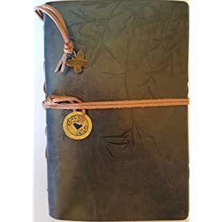Grey I Ching Bamboo Leather Journal Diary 5.1