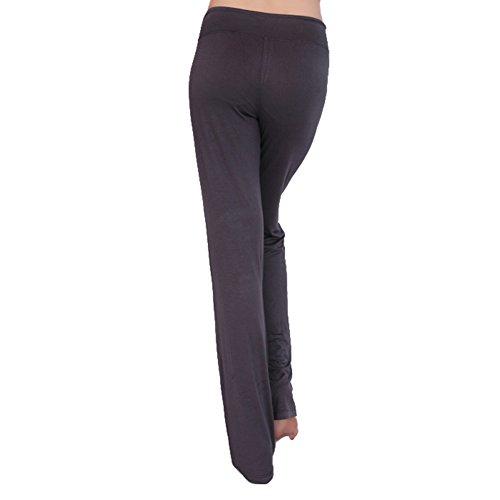 Femme pantalons de sport pantalon décontracté élastique pantalons doux taille haute avec cordon Stretch Fitness pantalon longue moderne hibote gris foncé